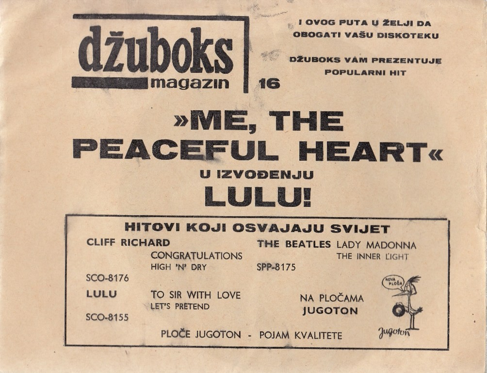 Lulu - Me The Peaceful Heart Moje Je Srce Mirno