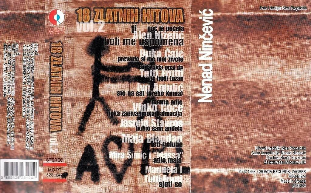 Various Artists - 18 Zlatnih Hitova Alen Nižetić Đuka Čaić Ivo Amulić