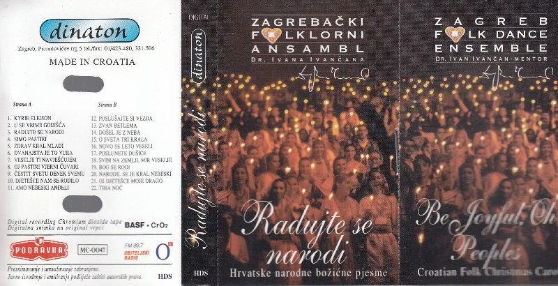 Zagrebački Folklorni Ansambl - Radujte Se Narodi