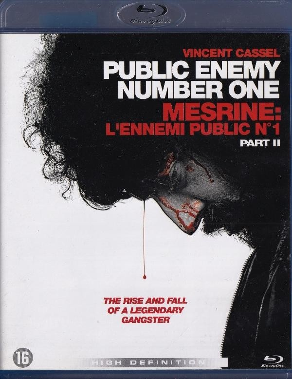 Public Enemy Number One Part Ii - Blue-Ray Disc - Nema Hrvatski Title Samo Holandski - Vincent Cassel