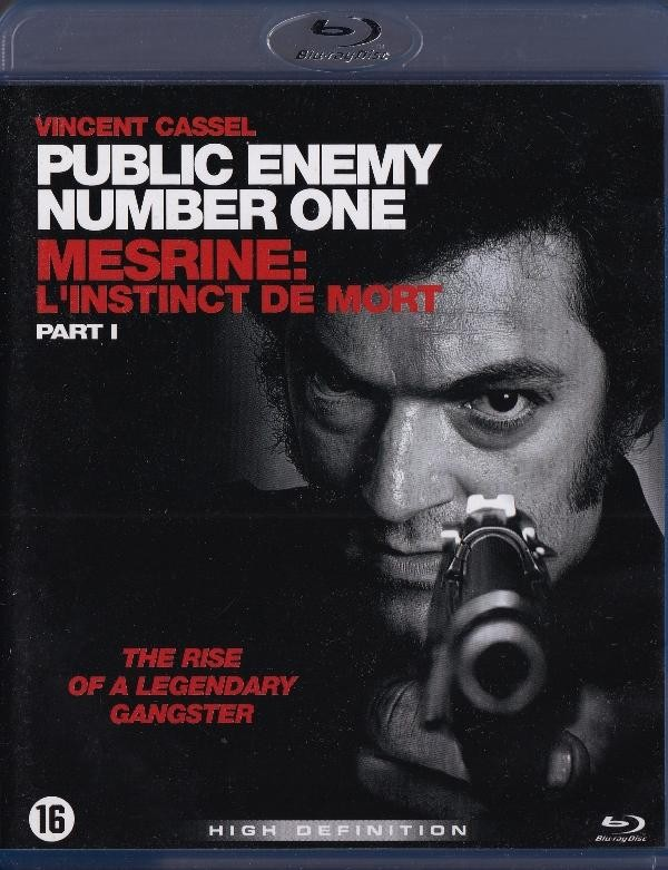 Public Enemy Number One Part I - Blue-Ray Disc - Nema Hrvatski Title Samo Holandski - Vincent Cassel