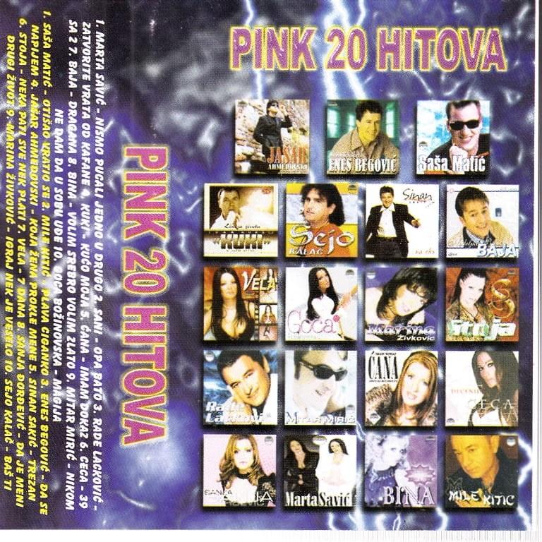 Various Artists - Pink 20 Hitova Sejo Kalač Sinan Sakić
