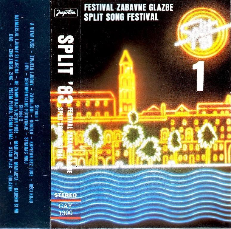 Various Artists - Split 1983 - Festival Zabavne Glazbe 1 2 - Dupla Kazeta